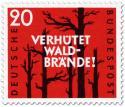 Stamp: Verhütet Waldbrände (verbrannte Bäume)