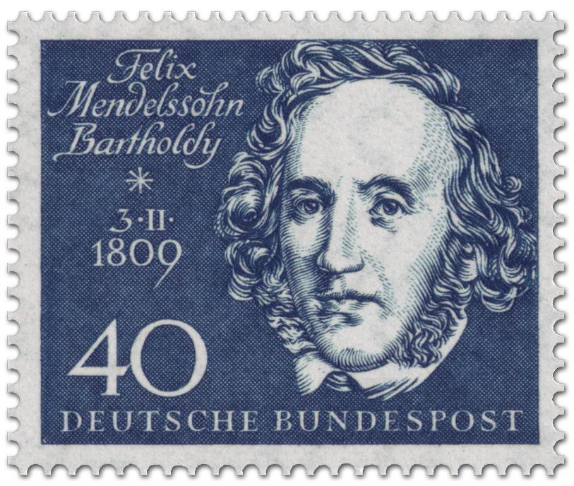 Stamp Felix Mendelssohn Bartholdy Komponist