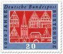 Stamp: Stadtansicht von Buxtehude (1000 Jahre)