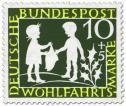 Stamp: Sterntaler: Mädchen und Junge (Grimms Märchen)