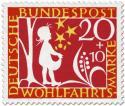 Stamp: Sterntaler: Mädchen fängt Sterne auf (Grimms Märchen)