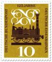 Stamp: 125 Jahre Deutsche Eisenbahn (Adler Dampflok)