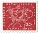 Stamp: Diskuswerfen und Speerwerfen (Olympisches Jahr 1960)