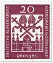 Stamp: Hlg. Bernward und Godehard (Bischöfe), Michaeliskirche Hildesheim