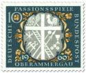 Stamp: Passionsspiele Oberammergau (Kreuz, Leiter, Hahn etc)