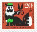 Stamp: Rotkäppchen: Jäger mit Schere beim Wolf