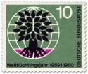 Stamp: Weltflüchtlingstag (Baum und Weltkugel) 10