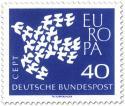 Stamp: Europamarke 1961: Taube aus Tauben