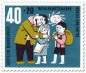Stamp: Hänsel und Gretel glücklich beim Vater