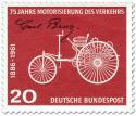 Stamp: Motorwagen von Carl Benz (Motorisierung des Verkehrs)