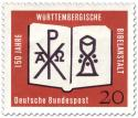 Stamp: Bibel, Kelch, Christusmonogramm (Württembergische Bibelanstalt)