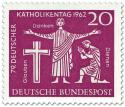 Stamp: Glauben, Danken, Dienen - Jesus (Katholikentag 1962)