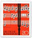 Stamp: Noten und Stimmgabel (Lied und Chor)