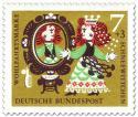 Stamp: Schneewittchens Stiefmutter vor dem Spiegel