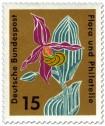 Stamp: Gelber Frauenschuh (cypripedium calceolosus orchidaceae)