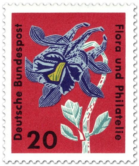 Stamp: Gemeine Akelei (aquilegia vulgaris ranunculaceae)