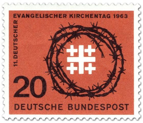 Stamp: Jerusalemkreuz und Dornenkrone (Evangelischer Kirchentag)