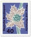 Stamp: Stranddistel (eryngium maritimum umbelliferae)