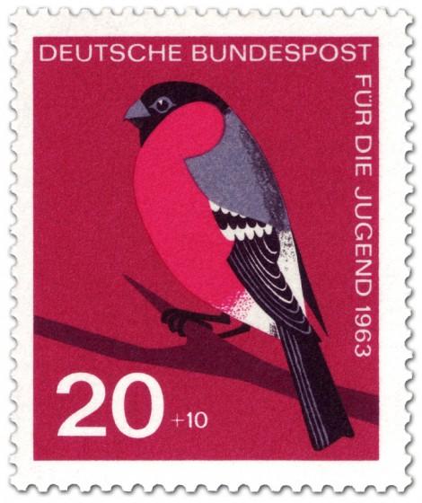 Stamp: Vogel: Dompfaff, Gimpel (Pyrrhula Fringillidae)