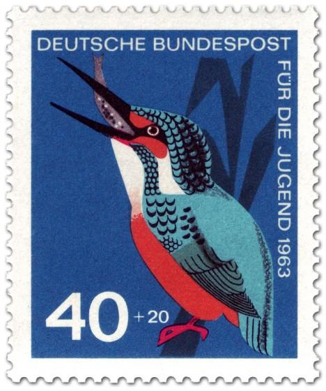 Stamp: Vogel: Eisvogel (Alcedo Atthis, Alcedinidae)