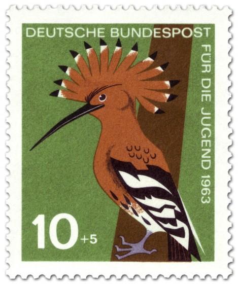Stamp: Vogel: Wiedehopf (Upupa Epops Upupidae)
