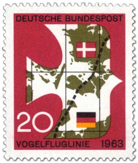 Stamp: Vogelfluglinie 1963 (Vogel)