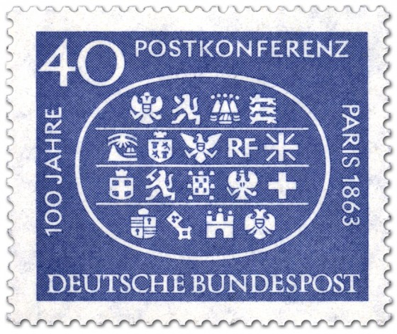 Stamp: Internationalen Postkonferenz Paris 1963 (Wappen)