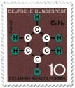 Stamp: Benzolformel von Friedrich August Kekulé