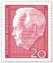 Stamp: Bundespräsident Heinrich Lübcke