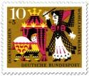 Stamp: Dornröschen als Baby mit Hexe