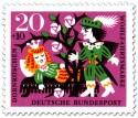 Stamp: Dornröschen schläft - Prinz vor Dornenhecke