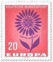 Stamp: Europamarke: Blume mit Cept