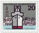Stamp: Hamburger Hafen (Schiff und Michel)