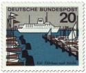 Stamp: Kiel Fährhafen (Schiff, Segelboote)