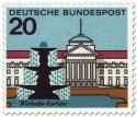 Stamp: Wiesbaden Kurhaus und Brunnen