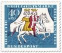 Stamp: Aschenputtel mit Prinz auf Pferd