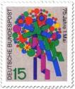 Stamp: Blumenstrauß zum 1. Mai (Tag der Arbeit)