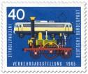 Stamp: Alte Dampflokomotive und Elektrolokomotive