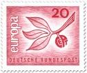 Stamp: Europamarke 1965 (Zweig Blätter)