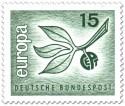 Stamp: Europamarke 1965 (Zweig mit Blättern)