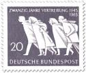 Stamp: Fliehende Menschen (20 Jahre Vertreibung)