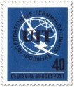 Stamp: Globus mit Blitz (100 Jahre Fernmelde Union ITU)