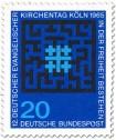 Stamp: Jerusalemkreuz im Labyrinth (evangelischer Kirchentag)