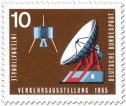 Stamp: Satellit und Satellitenantenne