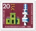 Stamp: Zeigertelegraph und Fernmeldeturm
