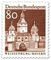 Stamp: Ellinger Tor in Weißenburg (Bayern)