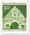 Stamp: Nordertor Flensburg, Schleswig (Grün)