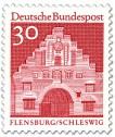 Stamp: Nordertor Flensburg, Schleswig (Rot)