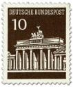 Stamp: Brandenburger Tor 10 (Braun)