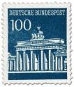 Stamp: Brandenburger Tor 100 (Preussischblau)